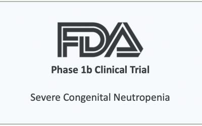 Phase 1b Clinical Trial Initiated for the Treatment of Severe Congenital Neutropenia