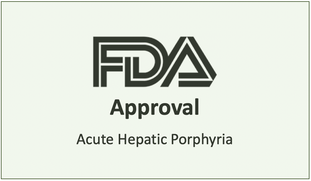 FDA approves Givosiran to Treat Rare Liver Condition